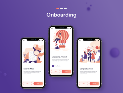 Onboarding UI for App procreate app procreateapp character design illustration onboarding screens onboarding screen onboarding ui adobexd uiuxdesign appui visual design userinterfacedesign userexperiencedesign interaction design
