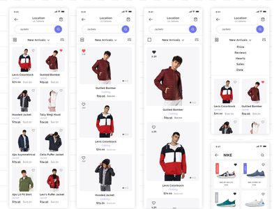 Ecommerce interfaces screens appui adobexd ecommerce uiuxdesign visual design userinterfacedesign userexperiencedesign interaction design