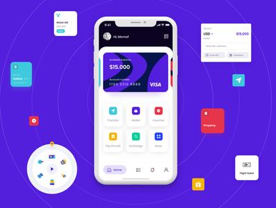 Wallet App UI Drsign