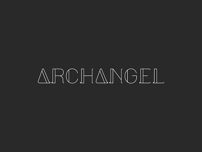 Archangel  typography good knife studio design thin lines logo design branding