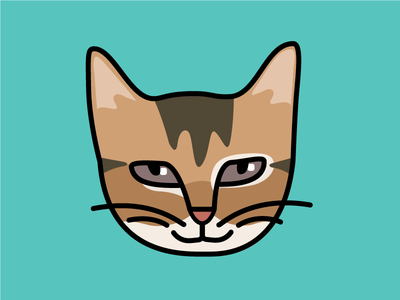 Josh Moji 100dayproject cat vector design illustration
