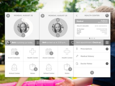 Coparent Concept families parents health schedule children