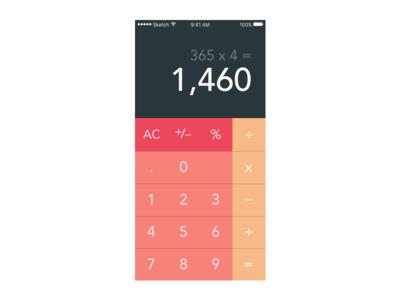 Calculator | Daily UI: 004 dailyui
