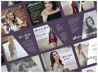 Kalli June Photography Senior eBook photography publication graphic design