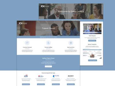 Sales Central design sales visual design intranet corporate