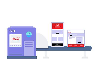 Demo Builder Machine branding illustration svg animation graphic design ui ux marketing product marketing product design