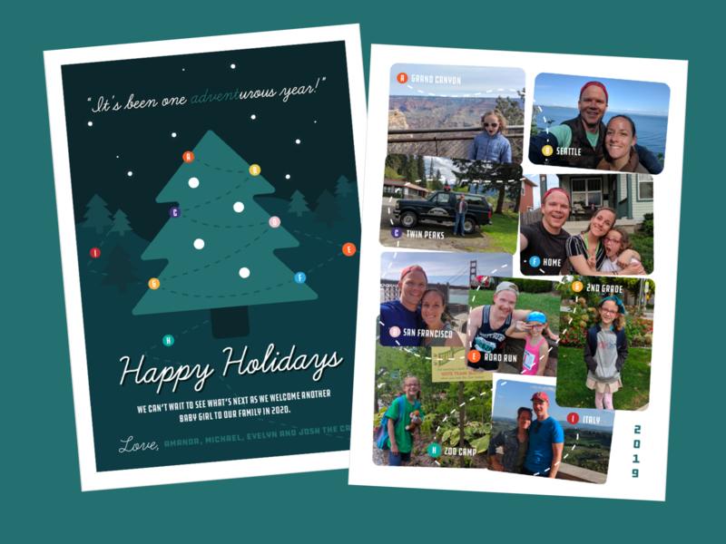 Holiday Card holiday vector graphic design print card christmas