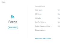 Feed Rinse Feed List