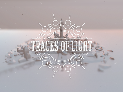 Traces of Light traces of light logo low poly game lighthouse island