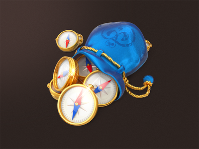 June's Journey / Compasses junes journey user interface game development 3d icons ui