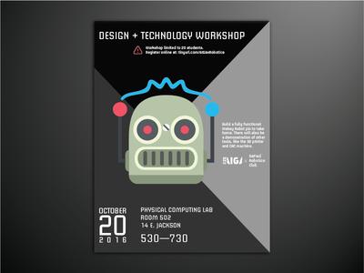 DePaul University AIGA Chapter Workshop Poster