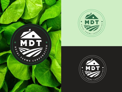 MDT Nutri Farms Corporation farming food philippines nature art davao illustrator branding design typography nature nutrition flat logo farmers farmers market farm