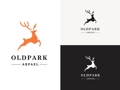 OLD PARK ABPAEL fitness club gym brand identity strong fitness logo logo vector icon design art illustration