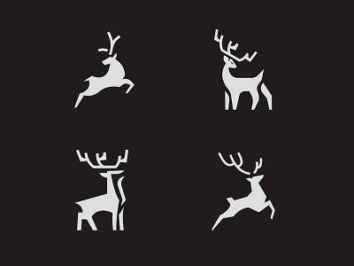 OldPark Exploration Logo art logodesign branding design brand reindeer logo exploration visual brand explorations exploration experiment