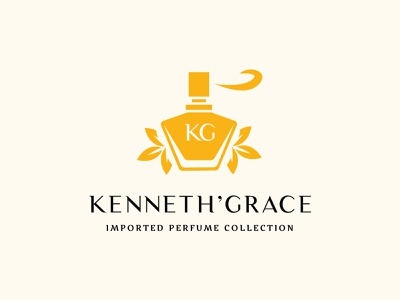 KG Kenneth' Grace brand identity perspective local cologne spray perfumes illustration typography design branding logo