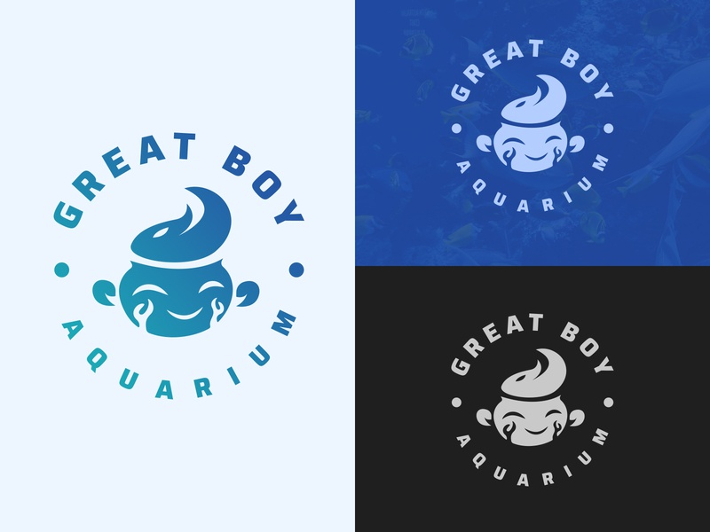 Great Boy Aquarium branding and identity branding concept aquatic aquaplants fish boy logomaker2020 logo branding aquarium aqua great
