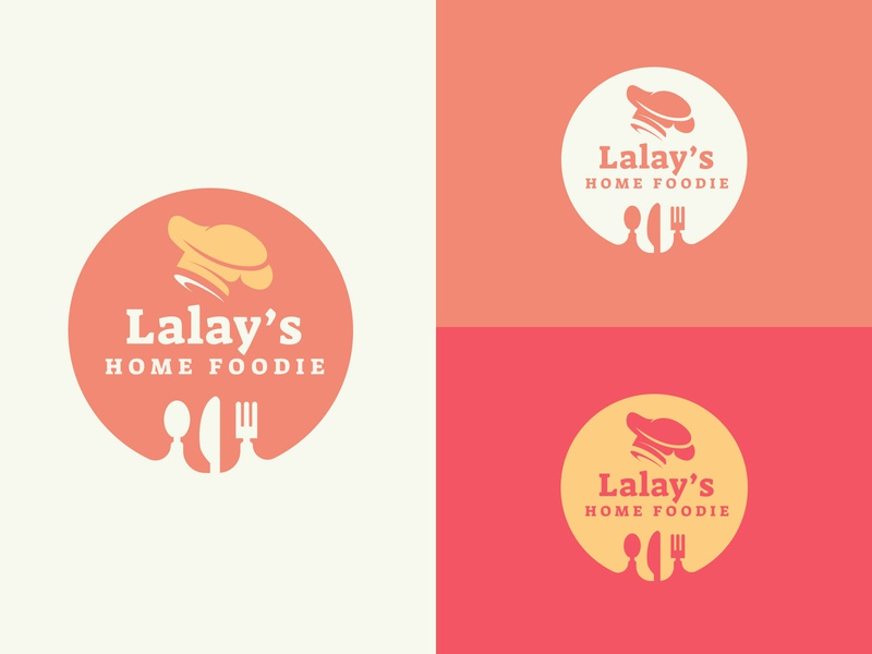 Lalay's Home Foodie illustration design simple logo logotype logo food and drink lhf homefoodie deliverfood branding design artph philippines filipino delivery foodie house food home