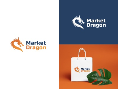 Market Dragon vector web logo brand identity branding illustrator design illustration art branding design art marketing campaign marketplace dragon market