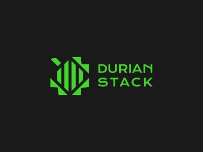 Durian Stack pattern typography ign movies development tech game anime news drink durian del norte davao dribbble logo branding digital drawing design durianstack