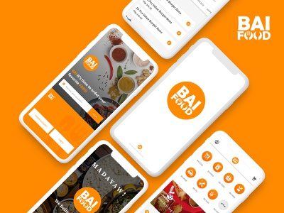 Bai Food concept branding and identity mobile delivery medicine food and drink logo philippines davao delivery app food app