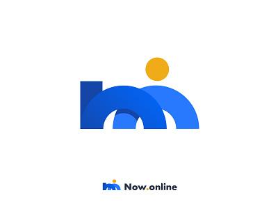 Now.Online blue job consultation logo online marketing reject contest online