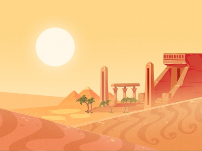 [2D Game Art] Educational with CueBall Games 4-4 zat3am game artist game art 2d game art environment design environment background design background desert egypt