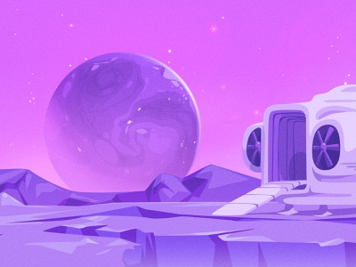 [2D Game Art] Educational with CueBall Games 4-5 background design background environment design enviroment game artist zat3am 2d game art game art planet space ship space