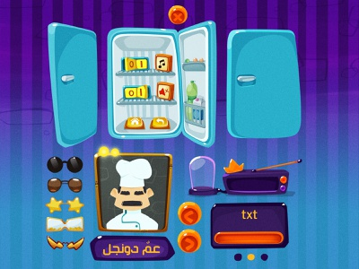 [2D Game Art] Gimzat Times 3-4 zat3am user interface design user interface ux ui 2d game art menu settings game artist game art