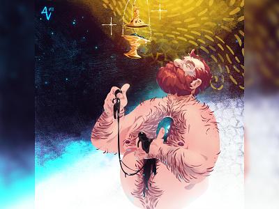 Alternative Vision #18 bearded hairy men illustration concept art zat3am alternative visions art series digital art digital painting