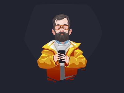 Kiiro photoshop zat3am illustration art vector selfie jacket kiiro yellow