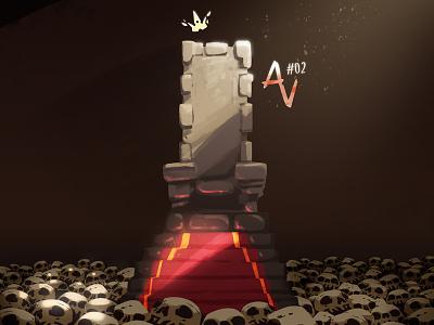 Alternative Vision #02 king throne skull wizard fantasy digitalart alternativevision av zat3am series art