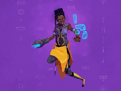 Shuri afrocentric marvel mcu afrofuturism shuri blackpanther vector illustration zat3am