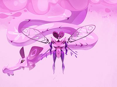 Queen of the Clouds queen dragon cdchallenge character photoshop vector illustration art zat3am