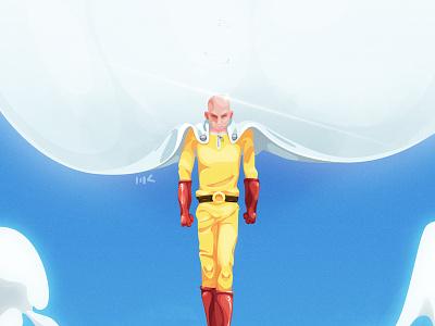 wanpanman anime onepunchman character photoshop vector illustration art zat3am