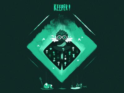 Keeper! characterdesign wiser keeper spider character illustration zat3am vector