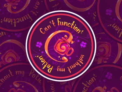 Potion Coaster art vector illustration zat3am magical coasterdesign coaster potion