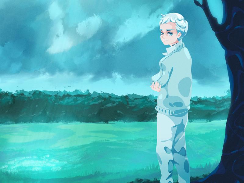 22194 zat3am conceptart character vector illustration digitalpainting fanart anime yakusoku neverland promised norman