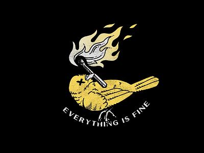 Canary In This Mine lyrics mine fire match canary apparel design illustrator helen oldham illustration