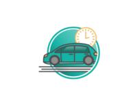"""Scheduled Transportation"" Icon"