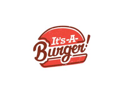 It's-A-Burger handmade font brush type logo hamburger restaurant burger rebrand