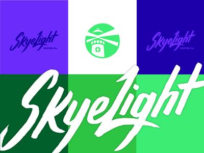 SkyeLight Coffee Co. Branding lighthouse wordmark logo branding isle of skye skyelight nitro coffee