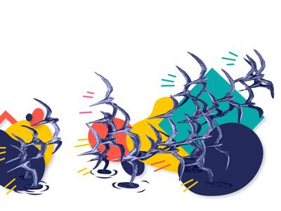Fun Orlando Birds sunglasses photo illustrator vector orlando florida sculpture birds color