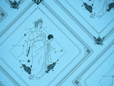 Urania Bandana Design the 9 muses muses muse kickstarter campaign kickstarter astronomy bandana apparel heavenly mythology women woman beauty greek design illustrator helen oldham illustration