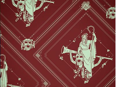 Thalia Bandana Design comedy woman women kickstarter campaign kickstarter mythology the 9 muses muse thalia greek design beauty bandana apparel illustrator helen oldham illustration