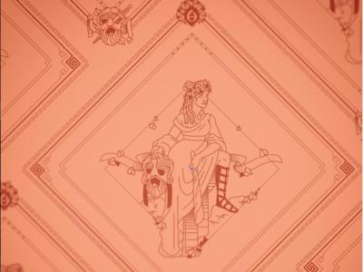 Melpomene Bandana Design the 9 muses tragedy melpomene women woman mythology muse kickstarter campaign kickstarter greek design beauty bandana apparel illustrator helen oldham illustration