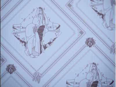 Polyhymnia Bandana Design poetry agriculture the 9 muses woman muse women mythology kickstarter campaign kickstarter greek design beauty bandana apparel illustrator helen oldham illustration