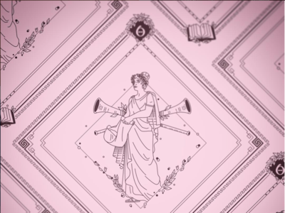 Clio Bandana Design history clio the 9 muses women woman mythology muse kickstarter campaign kickstarter greek design beauty bandana apparel illustrator helen oldham illustration