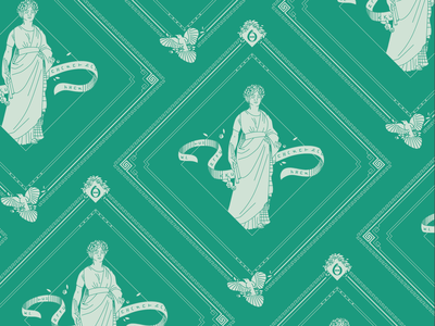 Euterpe Bandana Design the 9 muses women woman mythology muse kickstarter campaign kickstarter greek design beauty bandana apparel illustrator helen oldham illustration