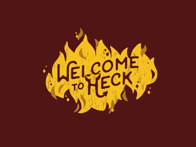 Welcome to Heck illustrator design texture heck welcome typography helen oldham illustration