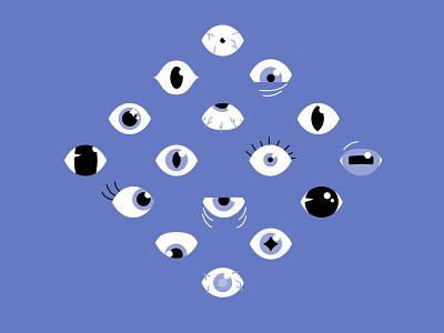 Ojos black and white ojos eyes design illustrator helen oldham illustration